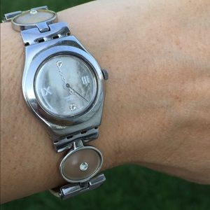Swatch Irony woman's watch Jewels white leather